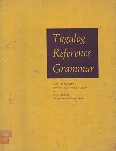9780520017764: Tagalog Reference Grammar