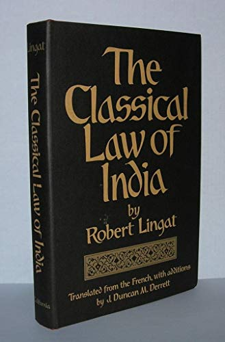9780520018983: The Classical Law of India