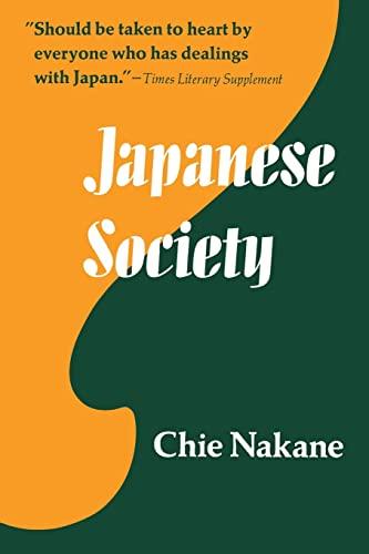9780520021549: Japanese Society