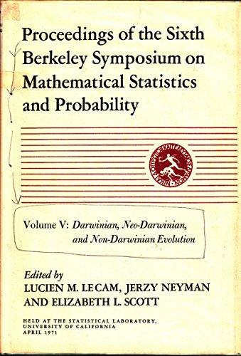 Mathematical Statistics and Probability: Darwinian, Neo-Darwinian and Non-Darwinian Evolution 6th, ...