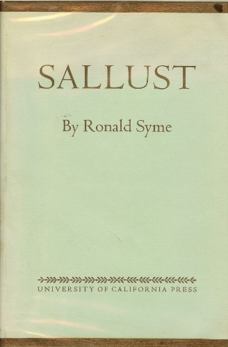 9780520023741: Sallust (Sather classical lectures-vol.33)