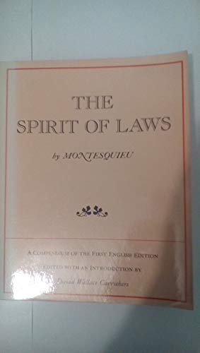 9780520025660: The Spirit of the Laws: Selections