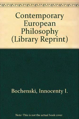 9780520026353: Contemporary European Philosophy (Library Reprint)