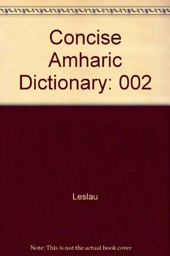 9780520026605: Concise Amharic Dictionary