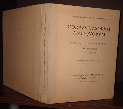 9780520028500: Corpus Vasorum Antiquorum - United States of America: Fasc. 16