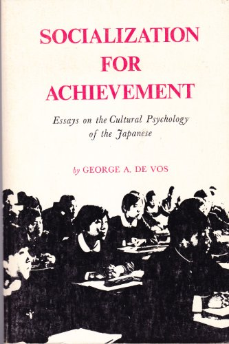 9780520028937: Socialization for Achievement: Essays on the Cultural Psychology of the Japanese (Center for Japanese Studies, UC Berkeley)