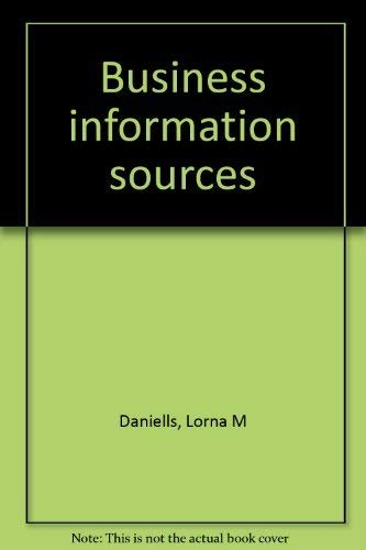 Business information sources: Daniells, Lorna M