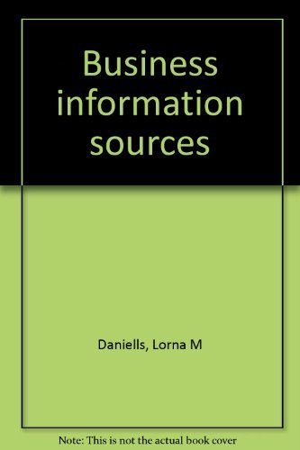 9780520029460: Business information sources
