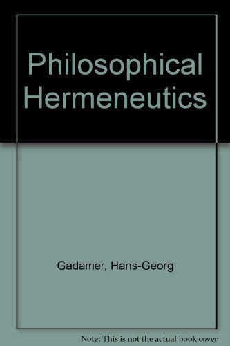 9780520029538: Philosophical Hermeneutics (English and German Edition)