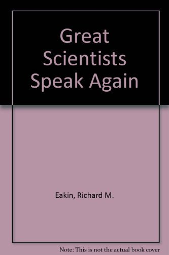 9780520030879: Great Scientists Speak Again