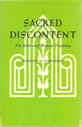 9780520031654: Sacred Discontent: The Bible and Western Tradition