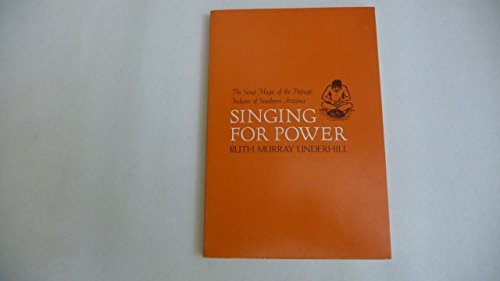 9780520032804: Singing for Power : The Song Magic of the Papago Indians of Southern Arizona
