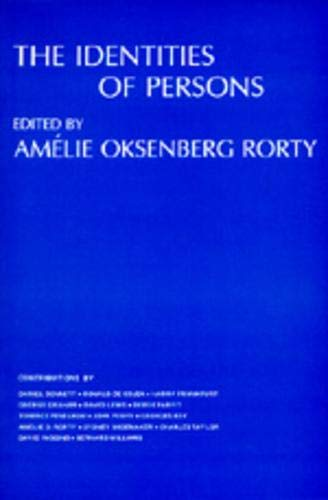 9780520033092: The Identities of Persons (Topics in Philosophy)
