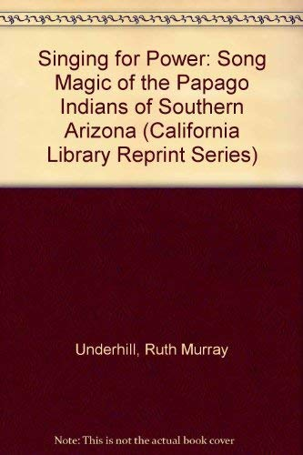 9780520033108: Singing for Power: The Song Magic of the Papago Indians of Southern Arizona (California Library Reprint Series)