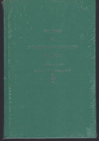 An Index to Nineteenth-Century Fiction: Volumes 1-30, Summer 1945 - March 1976