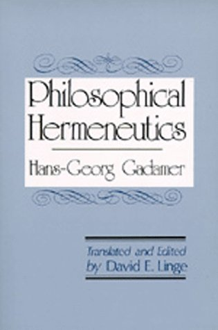 9780520034754: Philosophical Hermeneutics