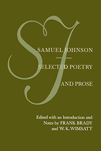 9780520035522: Samuel Johnson: Selected Poetry and Prose