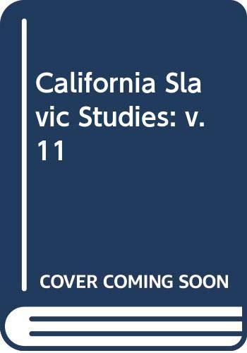 9780520035843: California Slavic Studies: v. 11