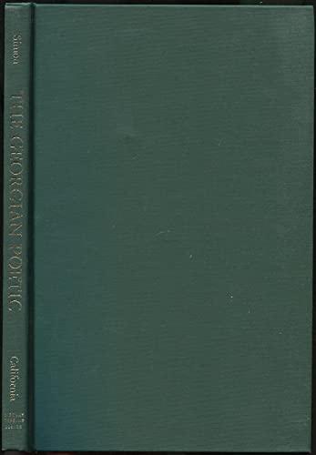 The Georgian Poetic.: Simon, Myron.