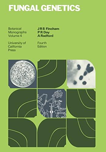 Botanical Monographs. Volume 4: Fungal Genetics. Fourth Ed.: Fincham;Day;Rodford