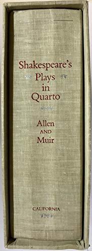 Shakespeare's Plays in Quarto, A Facsimile Edition: William Shakespeare, Michæl