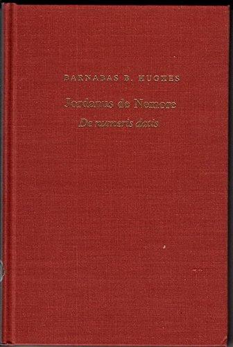 9780520042834: Jordanus De Nemore De Numeris Datis (Publications of the Center for Medieval and Renaissance Studies, UCLA)