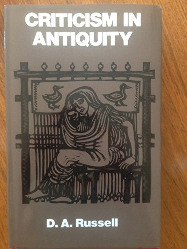 9780520044661: Criticism in Antiquity