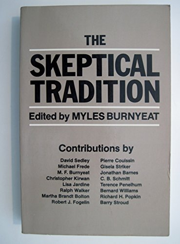 9780520047952: The Skeptical Tradition (Major thinkers series)