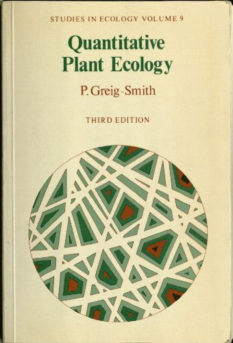 QUANTITATIVE PLANT ECOLOGY; STUDIES IN ECOLOGY VOLUME: Greig-Smith, P.
