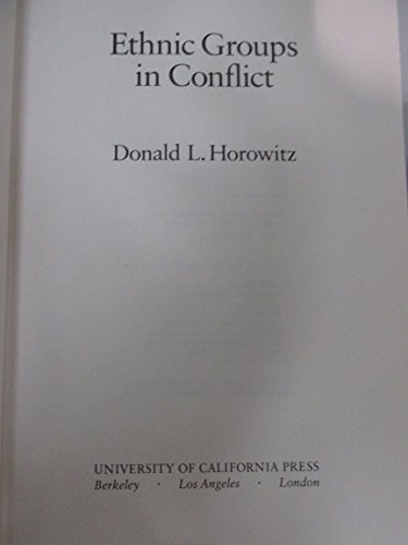 9780520053854: Ethnic Groups in Conflict