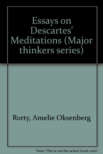 "9780520054967: Essays on Descartes' ""Meditations"" (Major thinkers series)"