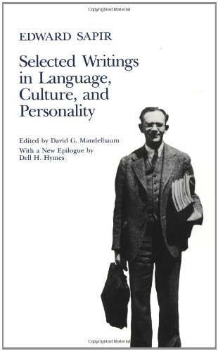 9780520055940: Selected Writings of Edward Sapir in Language, Culture and Personality
