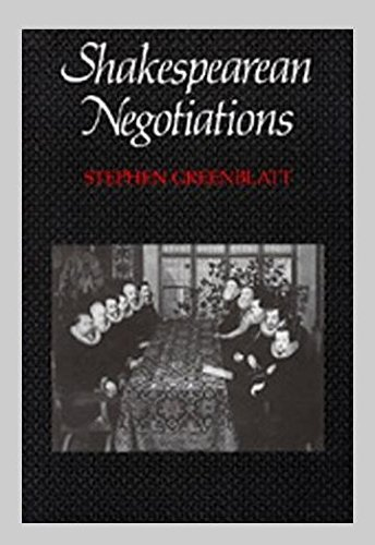 9780520061590: Shakespearean Negotiations: The Circulation of Social Energy in Renaissance England (The New historicism : studies in cultural poetics)
