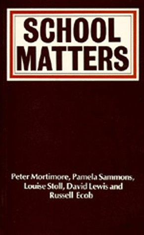9780520065031: School Matters