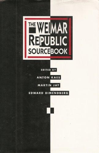 9780520067745: The Weimar Republic Sourcebook