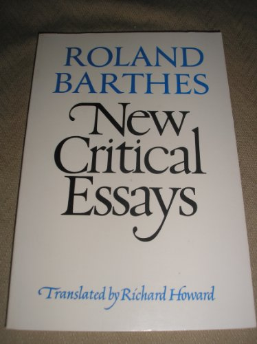 architecture and roland barthes essay The death of the author (french: la mort de l'auteur) is a 1967 essay by the french literary critic and theorist roland barthes (1915–80) barthes' essay argues against traditional literary criticism's practice of incorporating the intentions and biographical context of an author in an interpretation of a text, and instead argues that.