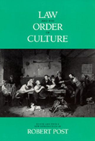 9780520073371: Law and the Order of Culture (Representations Books)
