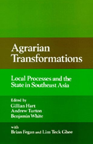 Agrarian Transformations: Local Processes and the State: Brian Fegan; lim