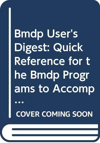 9780520081420: BMDP Statistical Software Manual, 1992 Edition User's Digest.