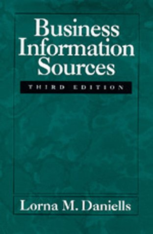 9780520081802: Business Information Sources, Third edition
