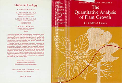 9780520094321: The quantitative analysis of plant growth (Studies in ecology)
