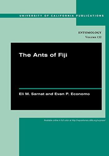The Ants of Fiji: Eli M. Sarnat