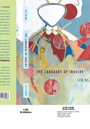 9780520217003: The Language of Inquiry