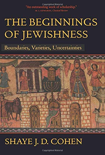 9780520226937: The Beginnings of Jewishness: Boundaries, Varieties, Uncertainties (Hellenistic Culture and Society)