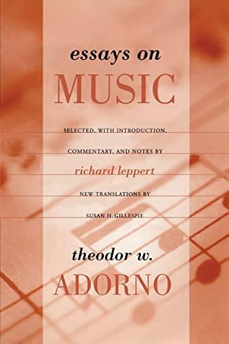 9780520231597: Essays on Music