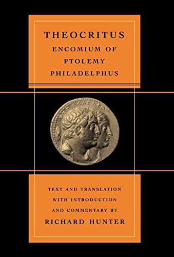 9780520235601: Encomium of Ptolemy Philadelphus (Volume 39)