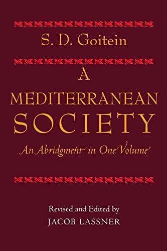 9780520240599: A Mediterranean Society: An Abridgment in One Volume