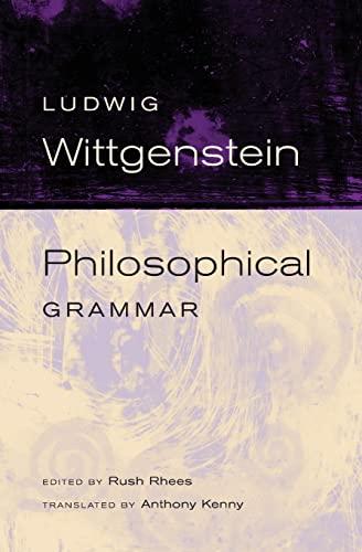 9780520245020: Philosophical Grammar