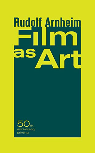 9780520248373: Film as Art