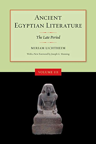 9780520248441: Ancient Egyptian Literature: The Late Period: Late Period v. 3